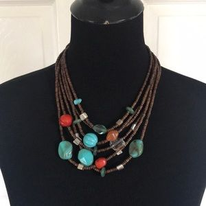 Exotic bead necklace